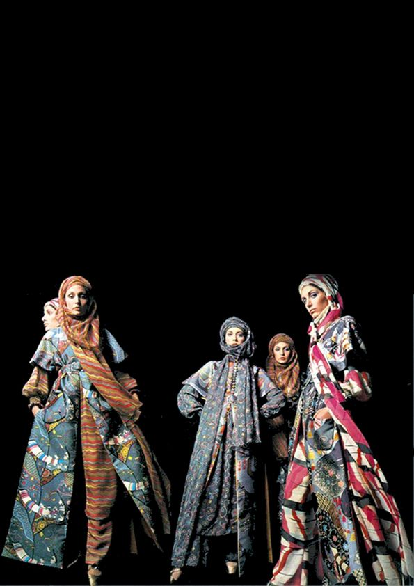 Valentino dresses, 1970. #Barry LATEGAN  Stylish Muslimah Hijab fashion styles. Ladies. Women clothing category