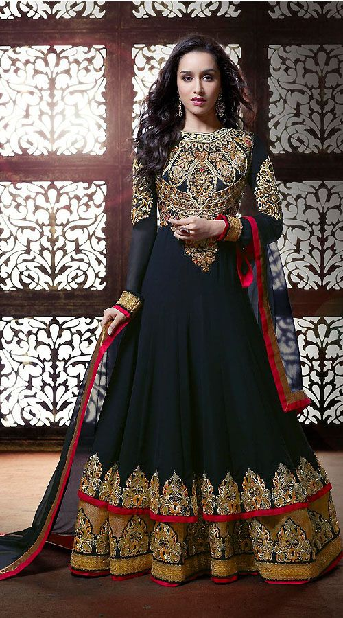 Black Georgette Bollywood Salwar Kameez