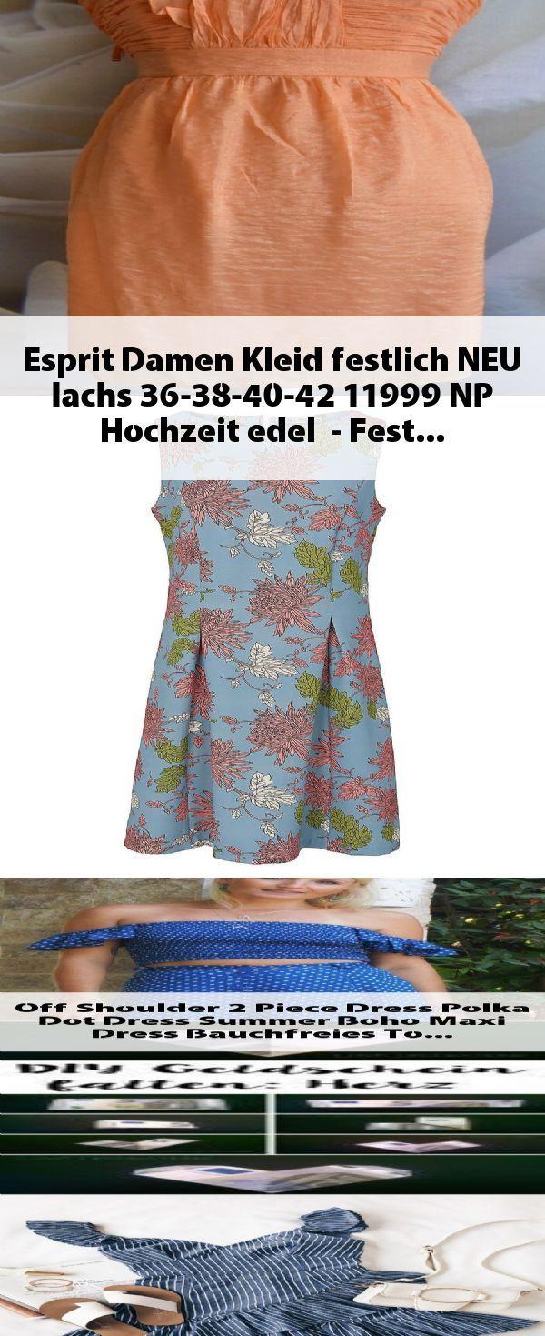 Esprit Damen Kleid festlich NEU lachs 11-11-11-11 11 NP