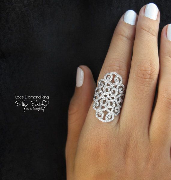 Hey, I found this really awesome Etsy listing at https://www.etsy.com/listing/156900051/duchess-lace-diamond-ring-14k-gold-135ct