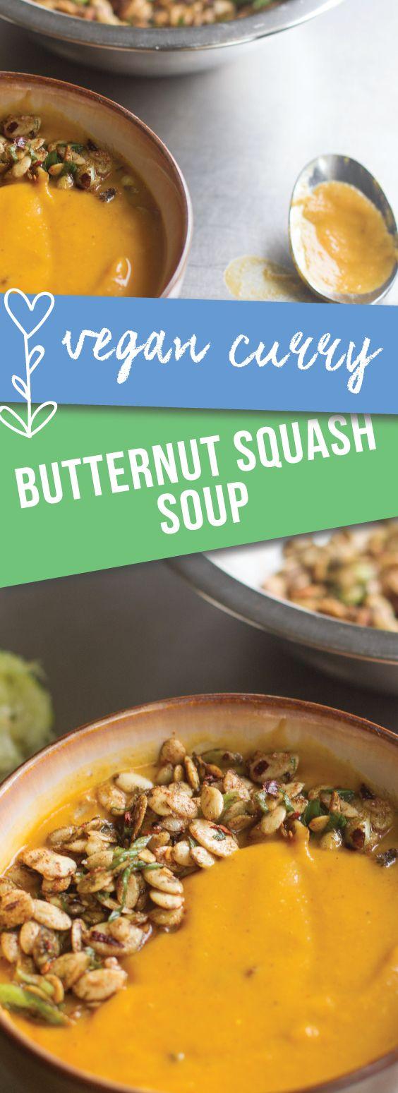 Vegan Curry Butternut Squash Soup   I am obsessed with this simple butternut squash soup that packs so much flavor   meikoandthedish.com