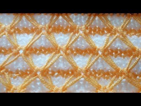 d0a621e6106a6 Çift Renkli Balık Ağı Örgü Modeli - YouTube | şiş ve tığ örgüsü ...