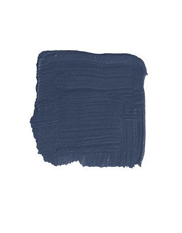 """Farrow & Ball Hague Blue (via House Beautiful: """"...we painted everything, floor to ceiling, in this inky blue-black and put a coat of high-gloss varnish on top — the poor man's lacquer. At night, it literally sparkles with the reflection of all the lights in the cityscape. -Todd Alexander Romano"""")"""