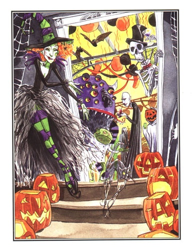 Scary Godmother  Lushly illustrated childrens books by Jill Thompson.
