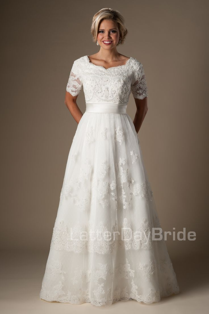 Modest wedding dresses bellissimo modest wedding for Latter day wedding dresses