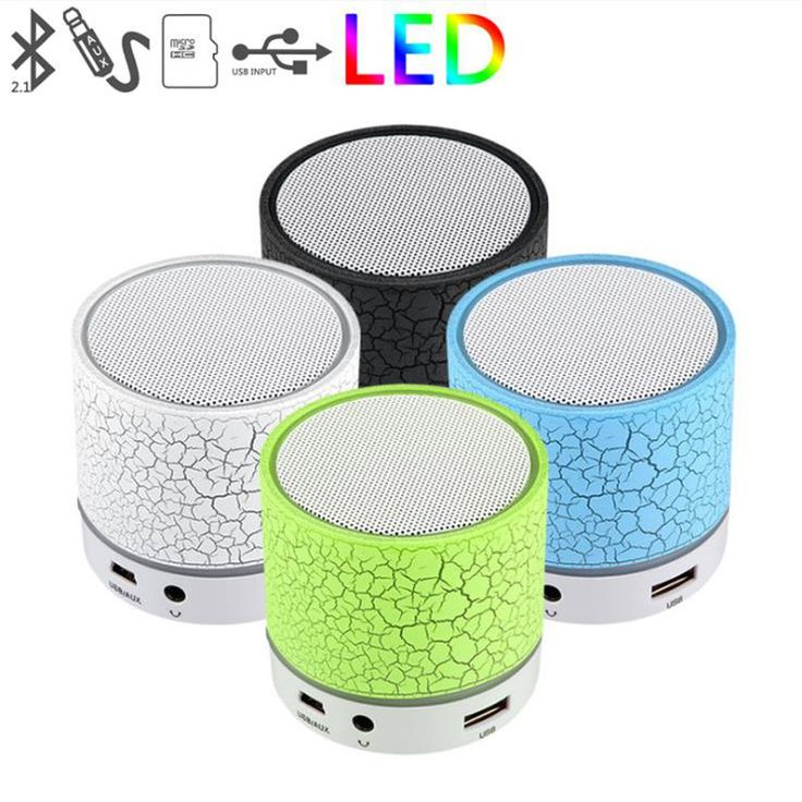 WIRELESS MINI LED LIGHT BLUETOOTH SPEAKER , WITH USB/TF/BLUETOTH/FM RADIO , COLORFUL LED LIGH, PORTABLE SUBWOOFER SPEAKER FOR SM Model: ...