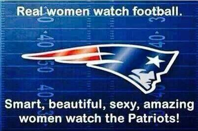 Patriots love women; women love the patriots