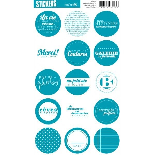 Kesi'art - Stickers ronds - Blue Vinyl