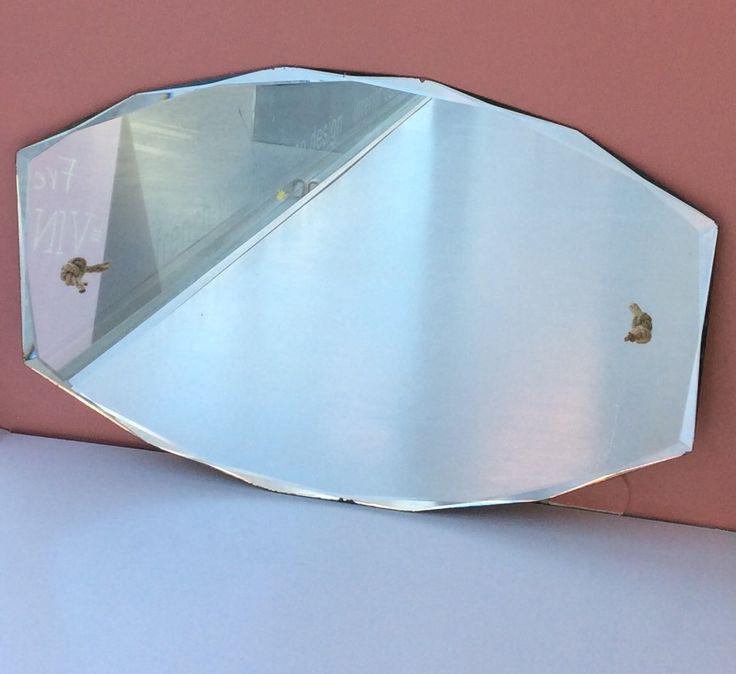 fasettihiottu kehyksetön peili . korkeus 48cm . leveys 72cm . @kooPernu . VARATTU