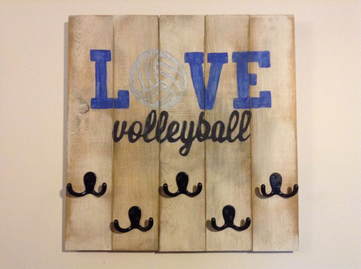 Volleyball medal sign