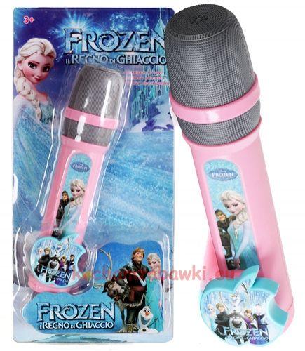 Mikrofon Karaoke dla dzieci z podkładem muzycznym Frozen | sklep kochamzabawki.