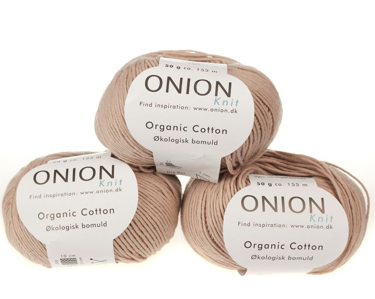 Sand økologisk bomuldsgarn fra Onion - 35 kr. per 50 gram