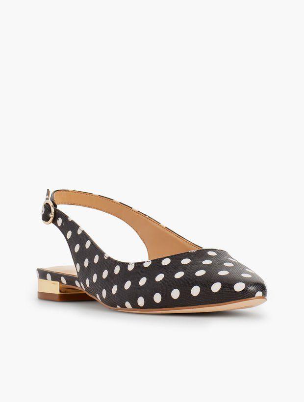 c5401455dbf9 Edison Slingback Flats - Polka Dot in 2019 | Shoes! | Slingback ...