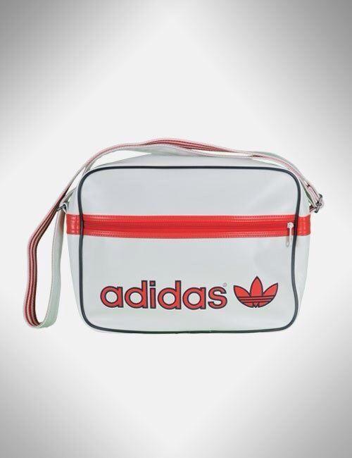 Adidas axelväska vit och röd på Tradera.com - Axelremsväskor