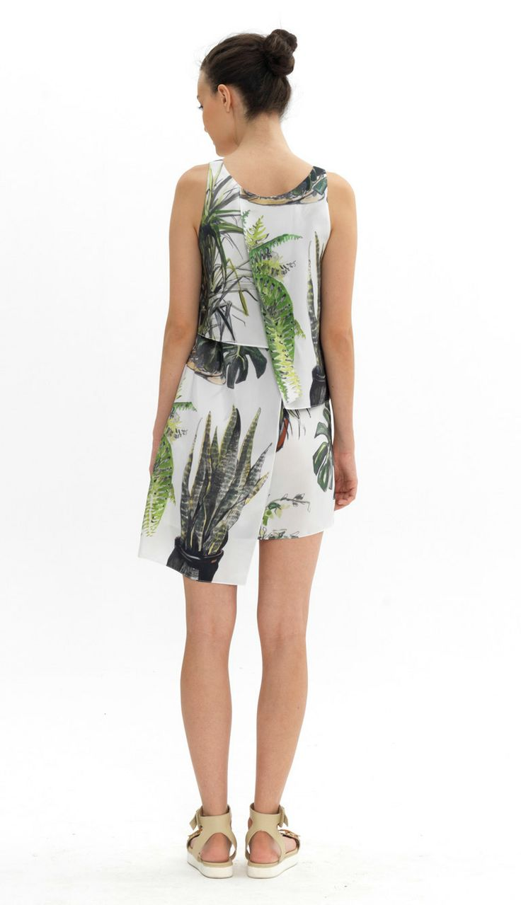 layered silk dress