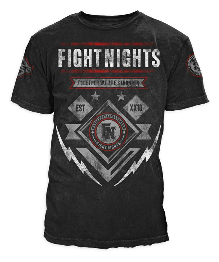 T   Shirt Design For Mix Martial Arts Fighter | Company : Fight Nights |  Country