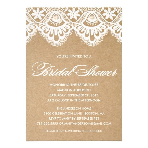 RUSTIC LACE | BRIDAL SHOWER INVITATION #wedding