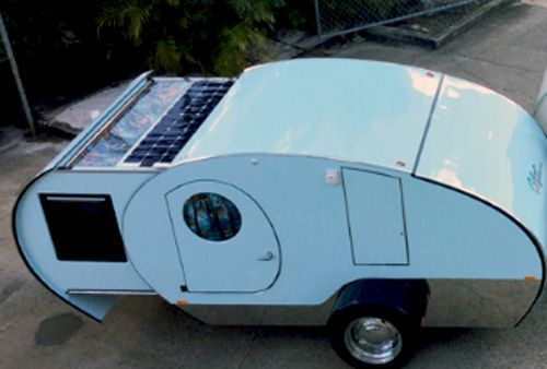Gidget campers brought new life into old teardrop style offering increased living space thanks to slide-out module, off-road construction and comfort unmatched by typical teardrop trailers.