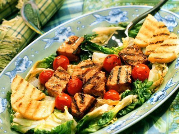 Gegrillter Schwertfisch mit Polenta ist ein Rezept mit frischen Zutaten aus der Kategorie Meerwasserfisch. Probieren Sie dieses und weitere Rezepte von EAT SMARTER!