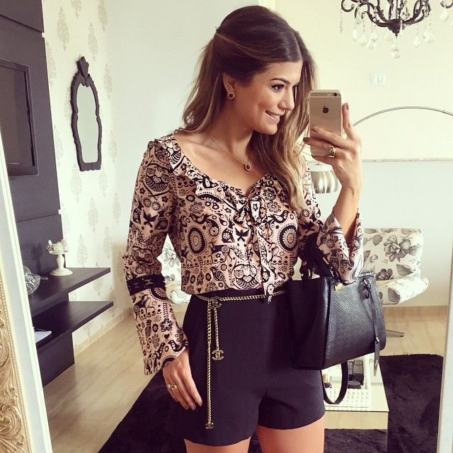 ⒮⒰⒩⒟⒜⒴ Short + Camisa @donnaritzoficial ~ #lookdodia #sundaylook #ootd #selfie…