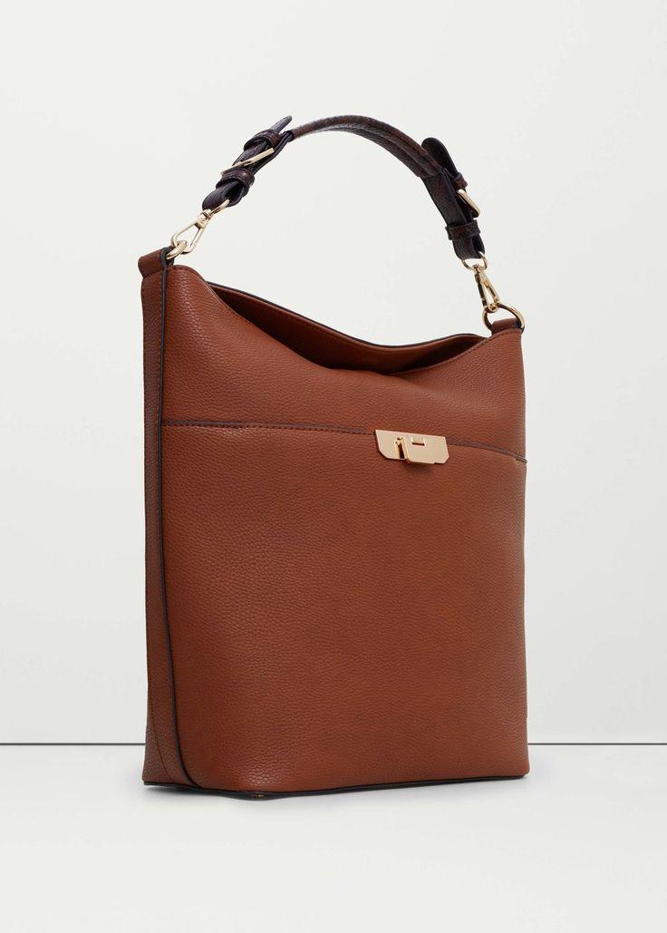 Pebbled hobo bag | MANGO