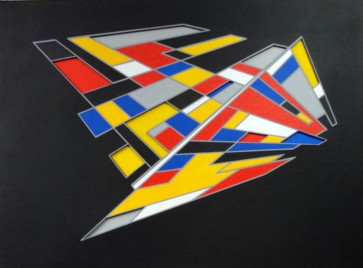 Split Second - Name: Split Second 3-dimensional acrylic on canvas and special board Dimensions 80 x 80 cm