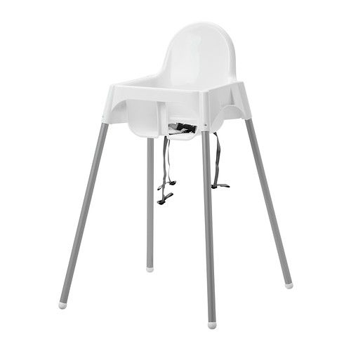 IKEA - ANTILOP, Highchair with safety belt, , Easy to disassemble and transport.A highchair makes it easier for small children to eat at the same table as grown-ups, which helps them develop social and eating skills.