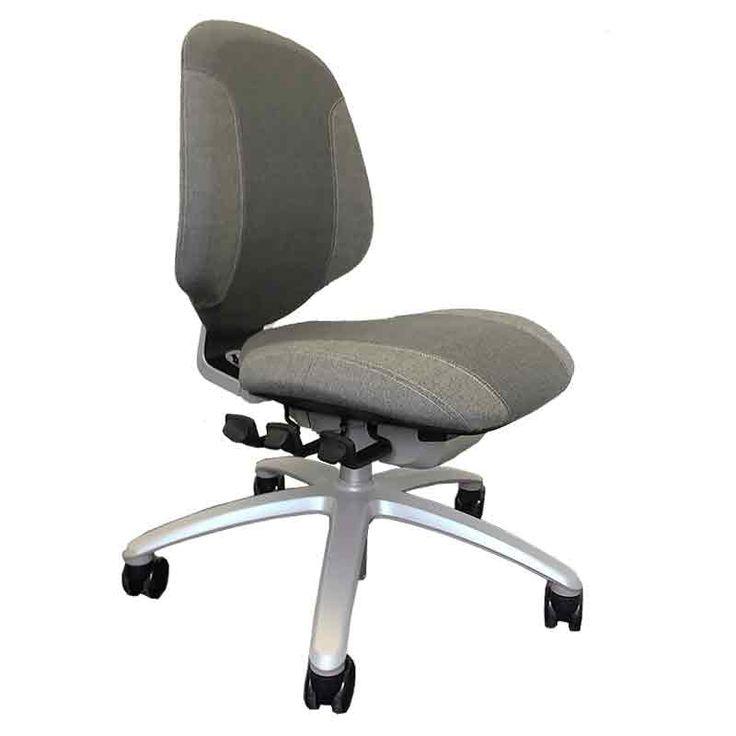 Super lkker design kontorstol i to farvet grt