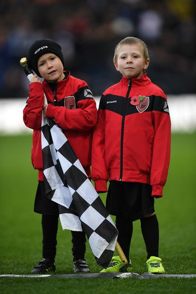 Two youngs boys look on prior to the Sky Bet Championship match between Derby County and Rotherham United at iPro Stadium on November 19, 2016 in Derby, England.