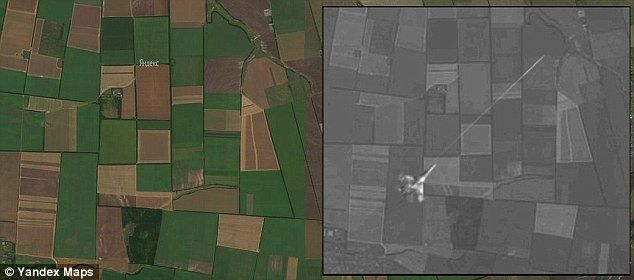 Bellingcat says it is clear that the satellite map imagery was created from a composite of different satellite map imagery