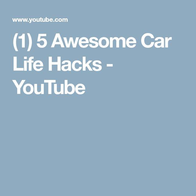 (1) 5 Awesome Car Life Hacks - YouTube