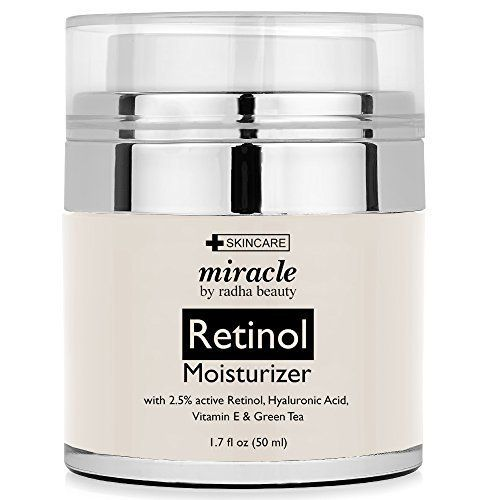 Radha Beauty Retinol Moisturizer Cream for Face and Eye Area 1.7 Oz - With Retinol, Hyaluronic Acid, vitamin e and Green Tea. Night and Day Moisturizing Cream >>> You can find out more details at the link of the image.