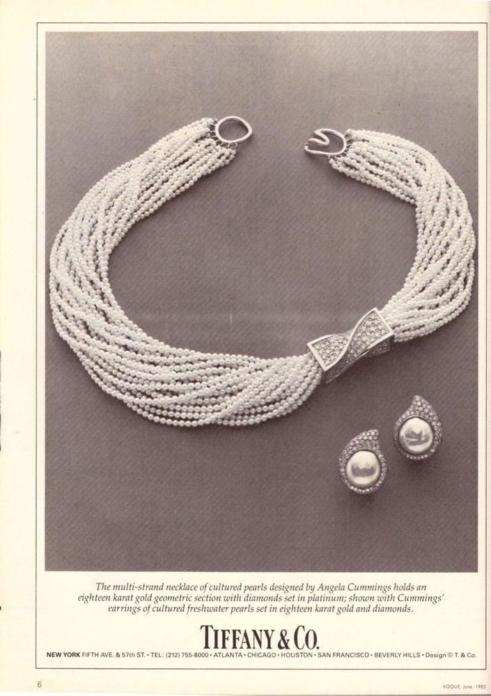 1982 Tiffany & Co. Tiffany's Jewelry Print Advertisement Vintage Ad VTG 80s | eBay