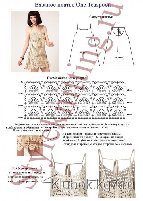 Вязаное крючком платье One Teaspoon