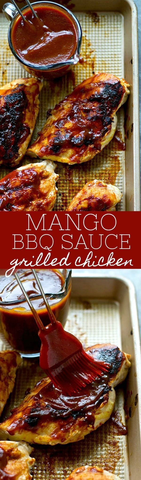 The most flavorful homemade BBQ sauce EVER collides with sweet mango and it all gets generously brushed over juicy grilled chicken.---Put this easy one on the summer dinner rotation! http://grillinglover.org/char-broil-classic-4-burner-gas-grill-review/