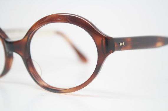 Vintage Eyewear Retro Eyeglass Frames  Tortoise by PinceNezShop