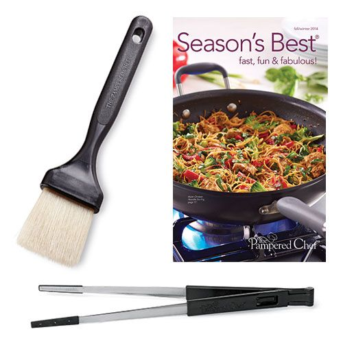 Tongs, Pastry Brush & Season's Best® Set - The Pampered Chef® on sale 10.45 (shop-outlet)  www.pamperedchef.biz/amandaswords