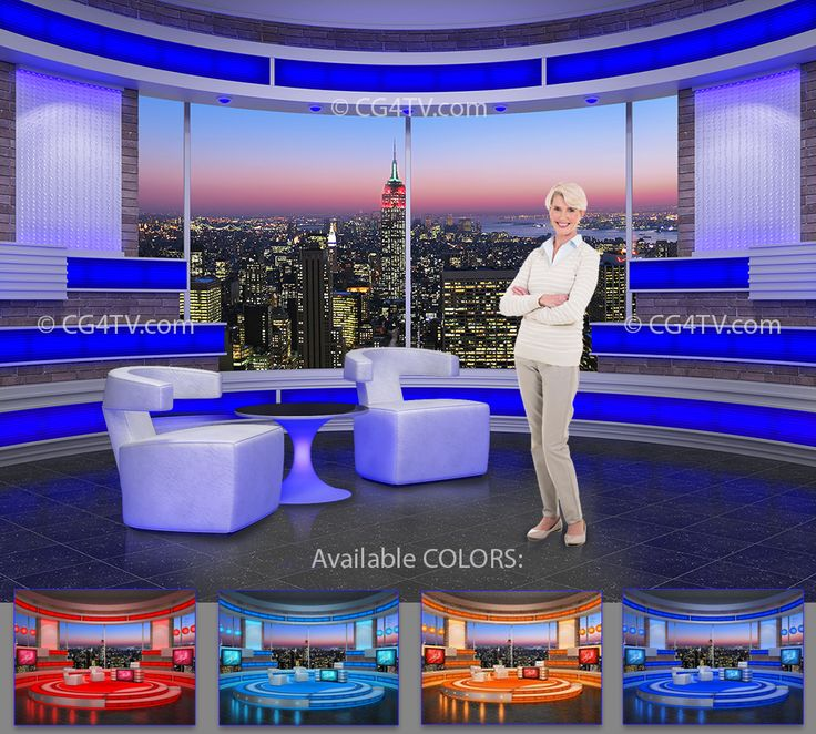 #Talk #Show #Virtual #Studio #Set for green screen video editing. Available in 4 different colors.  http://www.cg4tv.com/virtual-set/talk-show-virtual-set-turquoise.html
