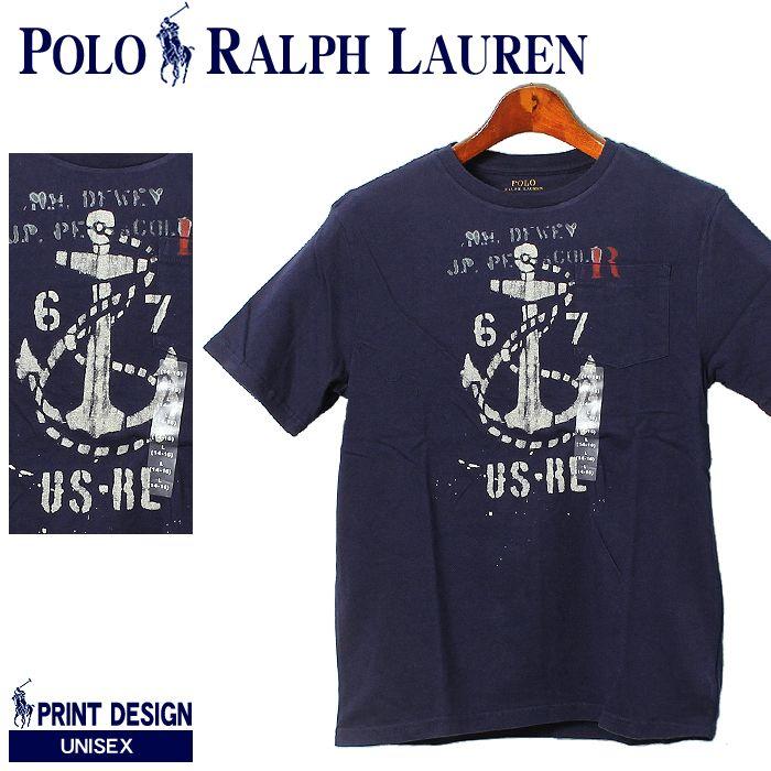 POLO RALPH LAUREN ポロ ラルフローレン ジャージー グラフィック クルーネック Tシャツ 碇