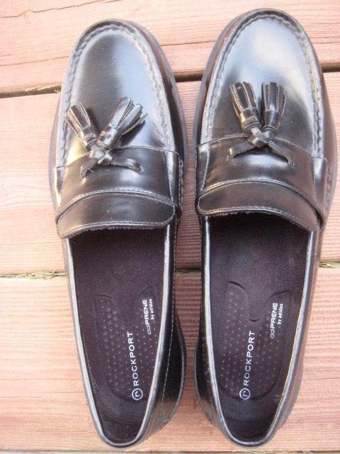 Rockport Modern Prep Tassel Black Loafers Size 8 Eur 41 Adiprene Adidas