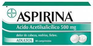 P.A: acid acetilsalicilic INDICACIONES:Tto. sintomático del dolor (de cabeza, dental, menstrual, muscular, lumbalgia). Fiebre. Tto. de la inflamación no reumática. Tto. de artritis reumatoide, artritis juvenil, osteoartritis y fiebre reumática.