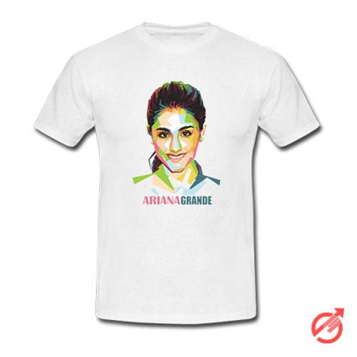 Ariana Grande Geometric Color Portrait Art T-Shirt