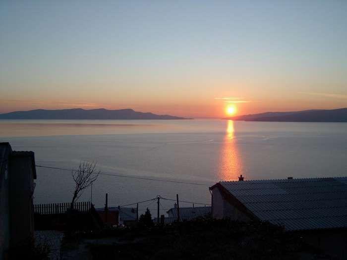 A beautiful sunset at sea in Senj