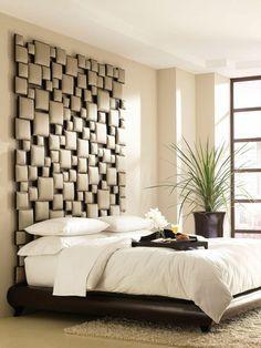 tête de lit originale en cuir