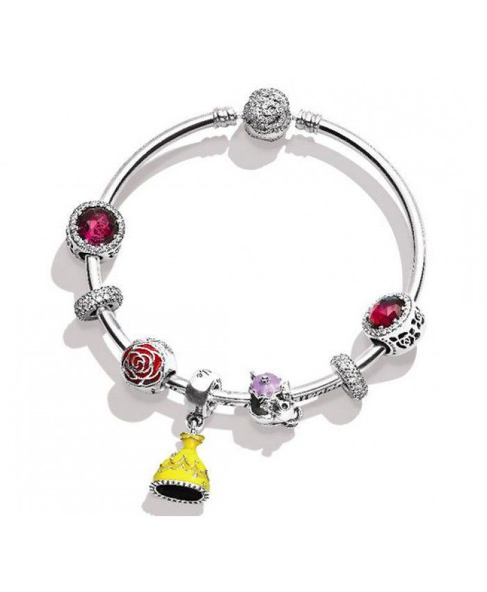 Pas Cher Pandora Disney La Belle et La Bête Bracelet Soldes France,Pandora jewelry charm 2018.