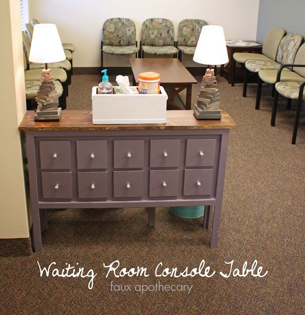 Running With Scissors: Faux Apothecary for the Waiting Room