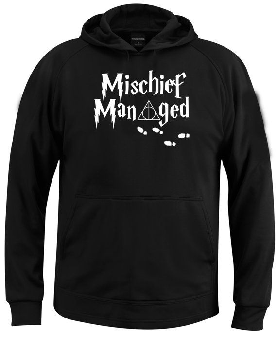 mischief managed harry potter  hoodie  size by coollandart on Etsy