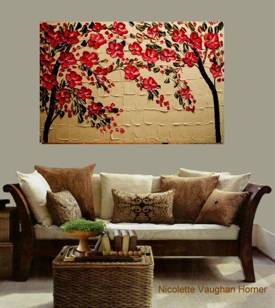 Abstract floral painting...  Pintura abstracta de flores...