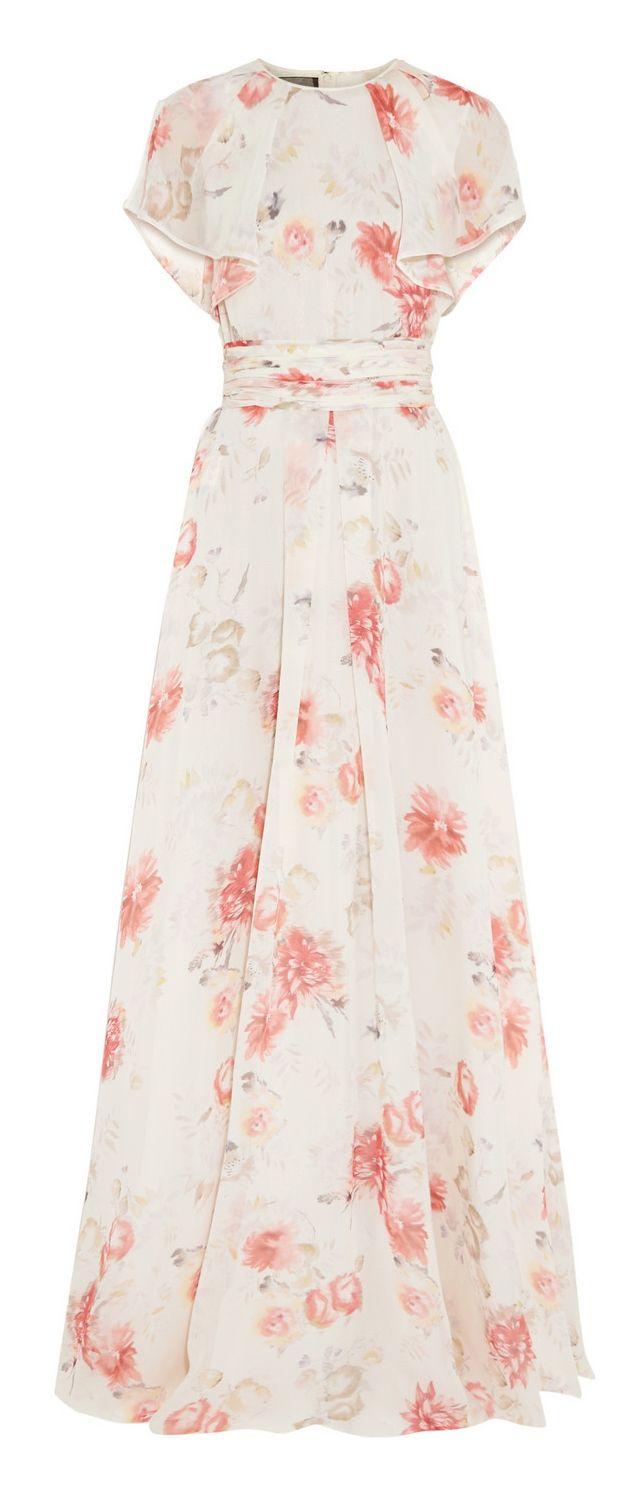 Floral gown vestido vaporoso estampado