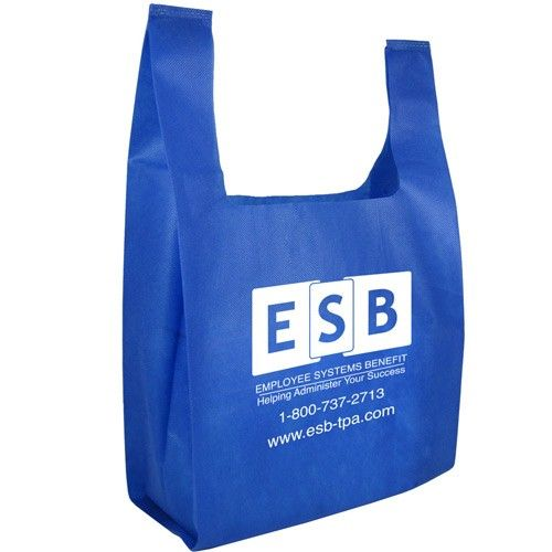 Ultrasonic non woven bag T-shirt With Logo, Cheap T-shirt Non Woven Bag Wholesale